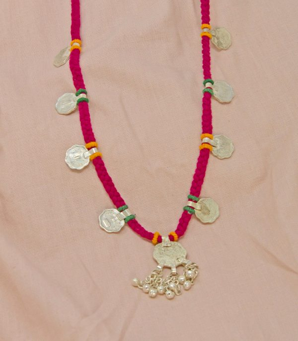metal ornament sheli, eight coin Necklace