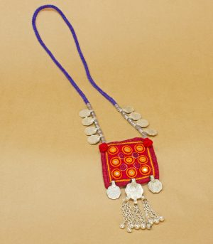 Wel, Kach, two paisa coin, sheli metal ornament Hand Embroidered necklace